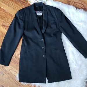 Escada Black lambswool blazer